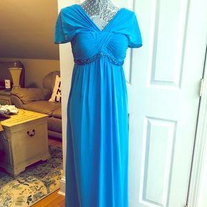 DAVID Bridal Baby Blue Prom/Bridesmaids dress